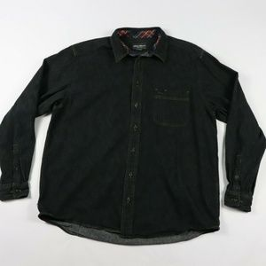 Vintage Eddie Bauer Denim Jean Shirt Black XL Tall